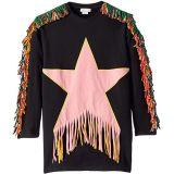 Star Patch and Fringe Sweatshirt Dress (Toddler/Little Kids/Big Kids)