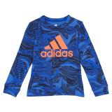 Adidas Kids Warp Camo Long Sleeve Tee (Toddler/Little Kids)