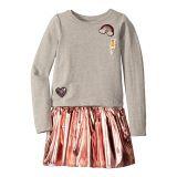 Hatley Kids Pretty Patches Metallic Drop Waist Dress (Toddler/Little Kids/Big Kids)