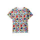 Stella McCartney Kids Letters Collage Short Sleeve T-Shirt (Toddler/Little Kids/Big Kids)