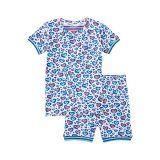 Hatley Kids Cheetah Hearts Organic Cotton Short Pajama Set (Toddleru002FLittle Kidsu002FBig Kids)