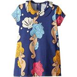 Mini rodini Seahorse Collar Short Sleeve Dress (Infant/Toddler/Little Kids/Big Kids)