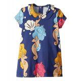 Mini rodini mini rodini Seahorse Collar Short Sleeve Dress (Infant/Toddler/Little Kids/Big Kids)