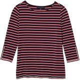 Global Boatneck Top Stripe