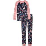 Nordic Forest Organic Cotton Raglan Pajama Set (Toddler/Little Kids/Big Kids)