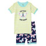 Hatley Kids Delightful Butterflies Organic Cotton Short Pajama Set (Toddleru002FLittle Kidsu002FBig Kids)