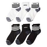Adidas Kids 3-Stripes Quarter Socks 6-Pack (Toddleru002FLittle Kidu002FBig Kidu002FAdult)