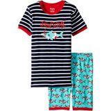 Hatley Kids Snorkeling Sharks Applique Organic Cotton Short Pajama Set (Toddler/Little Kids/Big Kids)