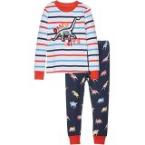 Hatley Kids Glowing Fossils Applique Organic Cotton Pajama Set (Toddler/Little Kids/Big Kids)