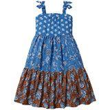 Janie and Jack Block Print Maxi Dress (Toddleru002FLittle Kidsu002FBig Kids)