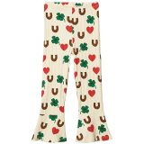 mini rodini Clover All Over Printed Flare Pants (Toddleru002FLittle Kidsu002FBig Kids)