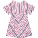 Scattered Hearts Flutter Sleeve Dress (Toddler/Little Kids/Big Kids)