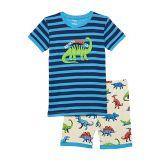 Hatley Kids Friendly Dinos Organic Cotton Short Pajama Set (Toddleru002FLittle Kidsu002FBig Kids)
