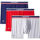 Lacoste New 3-Pack Signature Waistband Boxer Brief