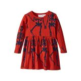 Mini rodini Skeleton All Over Print Long Sleeve Dress (Infant/Toddler/Little Kids/Big Kids)