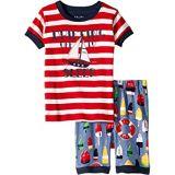 Hatley Kids Distressed Buoys Applique Organic Cotton Short Pajama Set (Toddler/Little Kids/Big Kids)