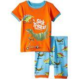 Hatley Kids Scooting Dinos Applique Organic Cotton Short Pajama Set (Toddler/Little Kids/Big Kids)