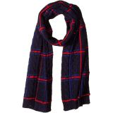 Plaid Cable Scarf