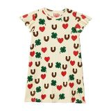 Mini rodini Clover All Over Printed Wing Dress (Toddleru002FLittle Kidsu002FBig Kids)