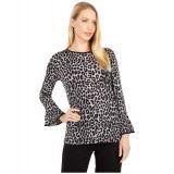 Cheetah Flutter Sleeve Top
