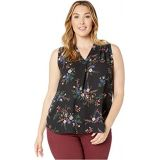 Vince Camuto Specialty Size Plus Size Sleeveless V-Neck Country Bouquet Blouse