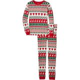 Mistletoe Deer Fair Isle Organic Cotton Pajama Set (Toddler/Little Kids/Big Kids)