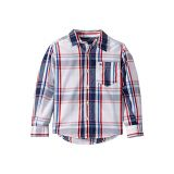 Tommy Hilfiger Kids Corey Plaid Long Sleeve Button Down Shirt (Toddler/Little Kids)