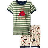 Hatley Kids Summer Camp Applique Organic Cotton Short Pajama Set (Toddler/Little Kids/Big Kids)