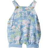 Janie and Jack Tropical Print Overall One-Piece (Infant)