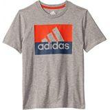 Adidas Kids Short Sleeve Heathered Block Badge of Sport Tee (Big Kids)