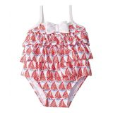Janie and Jack Tier Ruffle Sailboat One-Piece Swimsuit (Infant)