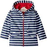 Hatley Kids Navy Stripes Microfiber Rain Jacket (Toddler/Little Kids/Big Kids)