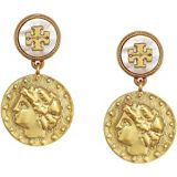 Tory Burch Coin Short Drop Earrings