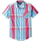 Tommy Hilfiger Kids Leo Plaid Woven Shirt (Big Kids)