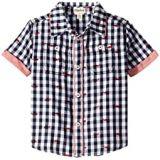 Hatley Kids Whale Pod Short Sleeve Button Down Shirt (Toddler/Little Kids/Big Kids)