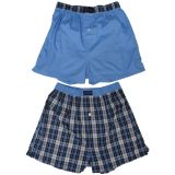 Tommy+Hilfiger Tommy Hilfiger Mens Boxer Shorts, Small 28/30, Blue/Plaid, (Pack of 2) (#69)