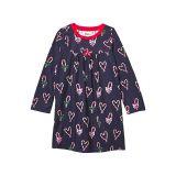 Hatley Kids Candy Cane Hearts Nightdress (Toddleru002FLittle Kidsu002FBig Kids)