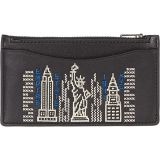 COACH Zip Card Case with Stardust City Skyline