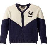 Panda Knitted Wool Cardigan (Toddler/Little Kids/Big Kids)