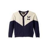 Mini rodini Panda Knitted Wool Cardigan (Toddler/Little Kids/Big Kids)