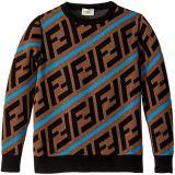 All Over Logo Print Sweater (Big Kids)
