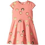 Mini rodini Monkeys All Over Print Short Sleeve Dress (Infant/Toddler/Little Kids/Big Kids)