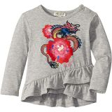 Dragon and Flower Ruffled T-Shirt (Infant)