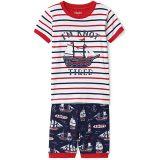 Nautical Ships Short Applique PJ Set (Toddler/Little Kids/Big Kids)