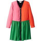 Long Sleeve Color Block Dress with Zipper (Toddler/Little Kids/Big Kids)