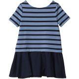 Striped Stretch Ponte Dress (Toddler)