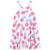 Party Pineapples Trapeze Dress (Toddler/Little Kids/Big Kids)