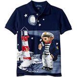 Polo Ralph Lauren Kids Captain Bear Cotton Mesh Polo (Little Kids/Big Kids)
