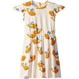 Mini rodini Whale All Over Print Wing Dress (Infant/Toddler/Little Kids/Big Kids)