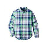 Polo Ralph Lauren Kids Plaid Cotton Poplin Shirt (Little Kids/Big Kids)